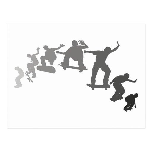Skateboarding Post Card