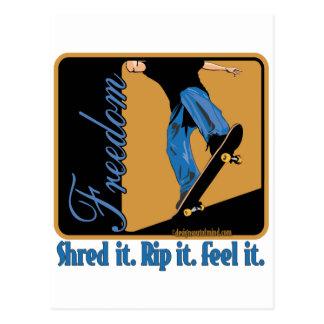 Skateboarding Postcard