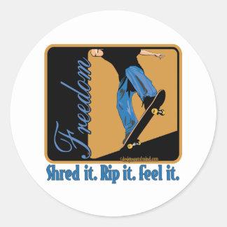 Skateboarding Round Sticker