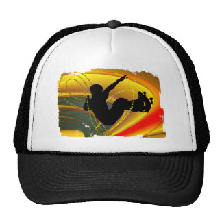 Skateboarding Silhouette in the Bowl Hats