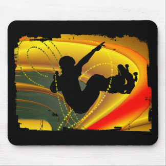 Skateboarding Silhouette in the Bowl Mouse Mat