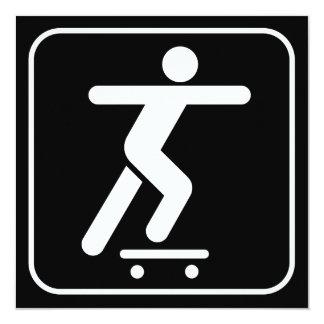 Skateboarding Symbol Invitation