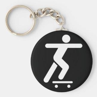 Skateboarding Symbol Keychain