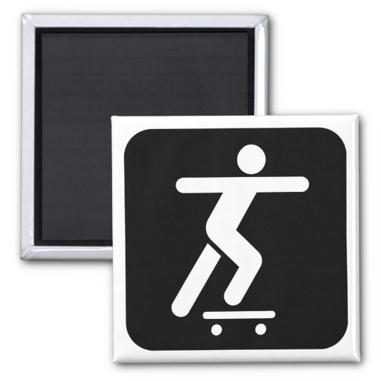 Skateboarding Symbol Magnet