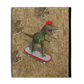 Skateboarding T-Rex iPad Folio Covers