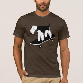 Skateboarding Welsh Terrier T-Shirt