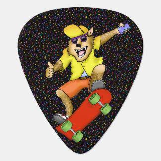 Skateboarding Werewolf Guitar Pick