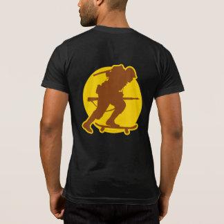 Skateboarding WWII Pocket-T Front & Back T-Shirt