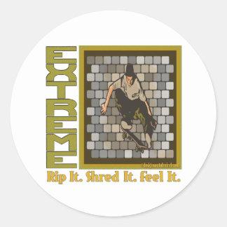 Skateboardingbeast Classic Round Sticker