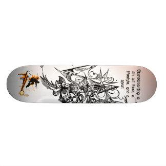 Skateboarding's a lifestyle. 21.6 cm skateboard deck