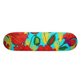 Skatebord poppy flowers meadow custom skateboard