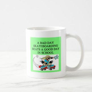 SKATEbording joke Basic White Mug