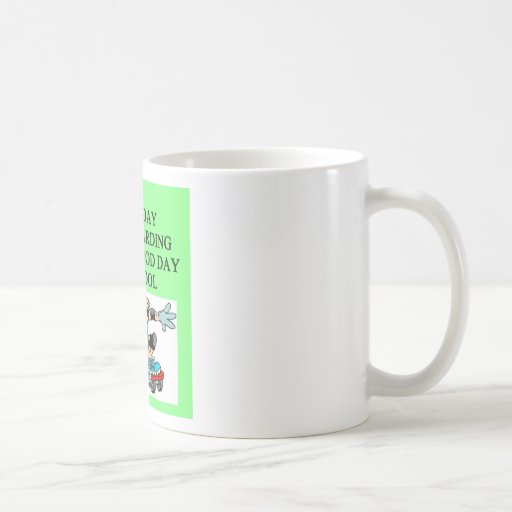 SKATEbording joke Coffee Mugs