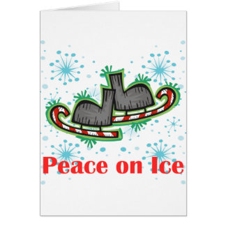 SkateChick Peace On Ice Greeting Card