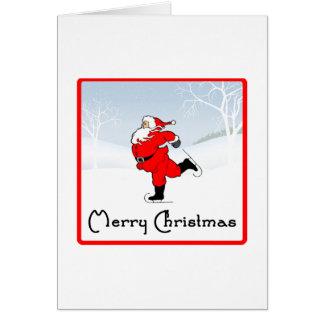 SkateChick Santa Greeting Card