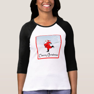 SkateChick Santa T Shirt