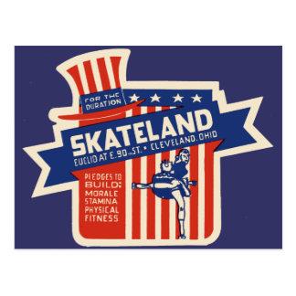 Skateland Cleveland Rollerskating Postcard