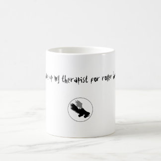 skatelogo, I gave up my therapist for roller de... Coffee Mug
