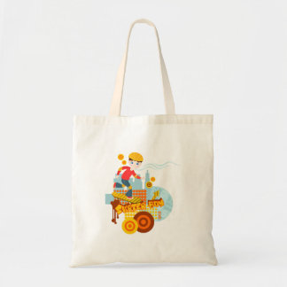 Skater boy birthday party budget tote bag