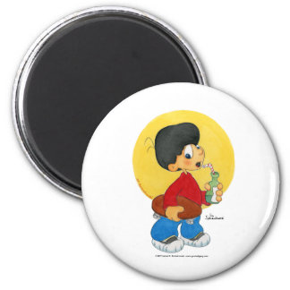 Skater Boy 6 Cm Round Magnet