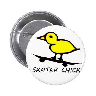 Skater Chick 6 Cm Round Badge