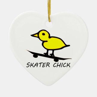 Skater Chick Christmas Ornament