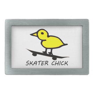 Skater Chick Rectangular Belt Buckle