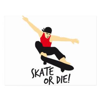Skater E 3c Postcard