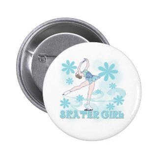 Skater Girl 6 Cm Round Badge