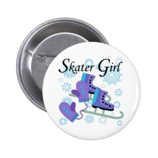 Skater Girl 6 Cm Round Badge