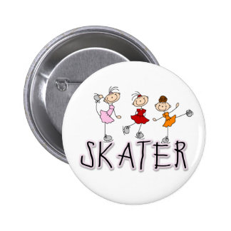 Skater Girl Button