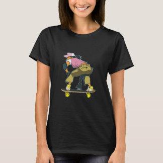 Skater Girl In Motion T Shirt