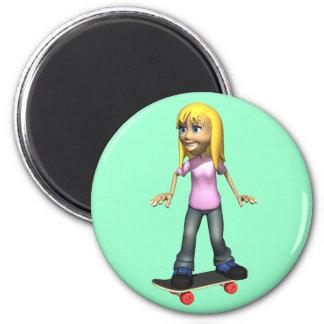 Skater Girl Magnet