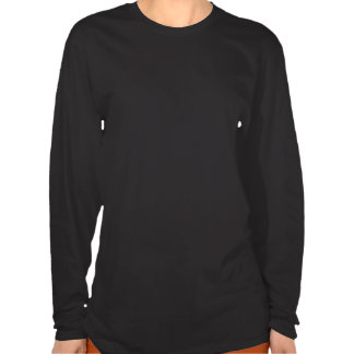 Skater girl pink text design on black long sleeve t shirt