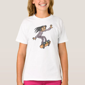 Skater Girl Skateboarding Fun Skateboard T-Shirt