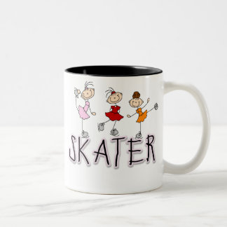 Skater Girl Stick Figures Mug