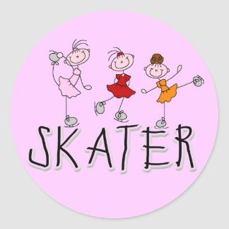 Skater Girl T-shirts and Gifts Stickers