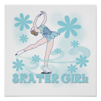 Skater Girl Tshirts and Gifts Poster