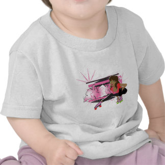 Skater Girl with Tag copy Tshirts