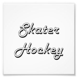Skater Hockey Classic Retro Design Photographic Print