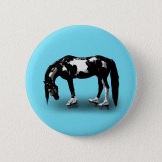 Skater Horse 6 Cm Round Badge