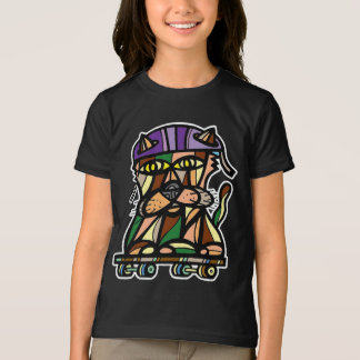 """Skater Kat"" Girls' American Apparel T-Shirt"