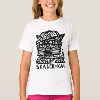 """Skater Kat"" Girls' TAGLESS® T-Shirt"