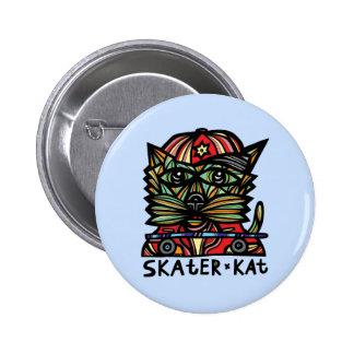"""Skater Kat"" Round Button"