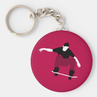 Skater Basic Round Button Key Ring