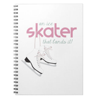 Skater Lands It Spiral Note Book