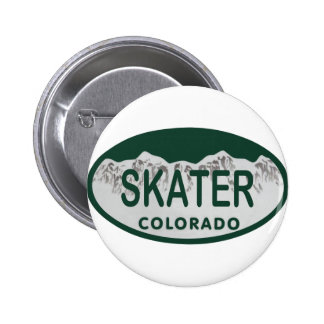 Skater license oval 6 cm round badge