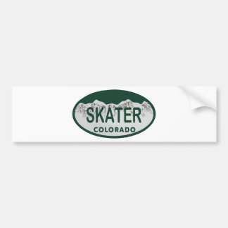 Skater license oval bumper sticker