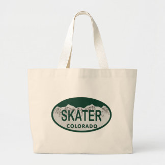 Skater license oval jumbo tote bag