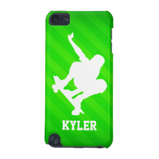Skater; Neon Green Stripes iPod Touch 5G Case